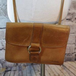 Fossil leather crossbody bag purse